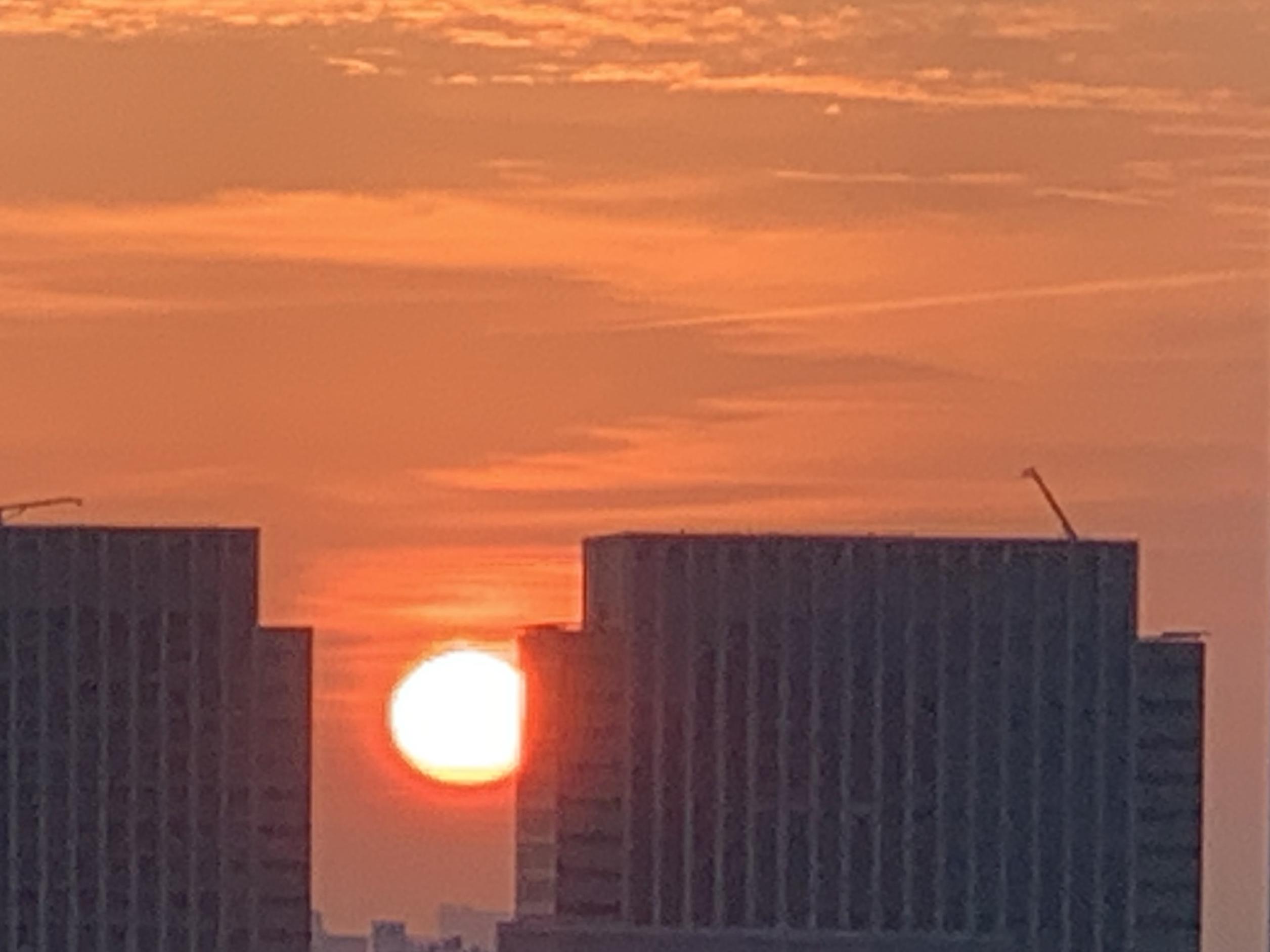 情熱的な朝陽「果てしない思い」❤️