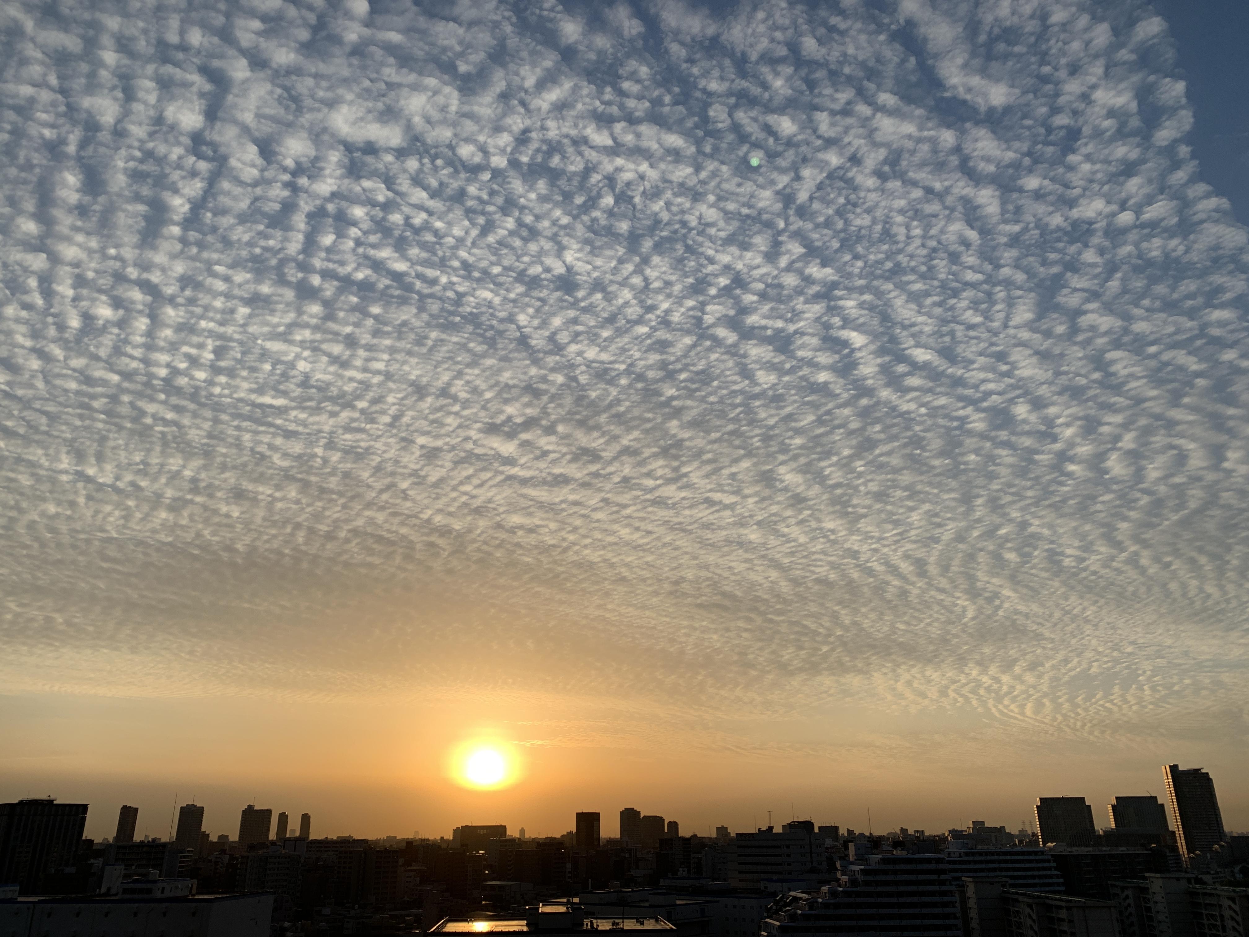 見事なうろこ雲「やってみよう」