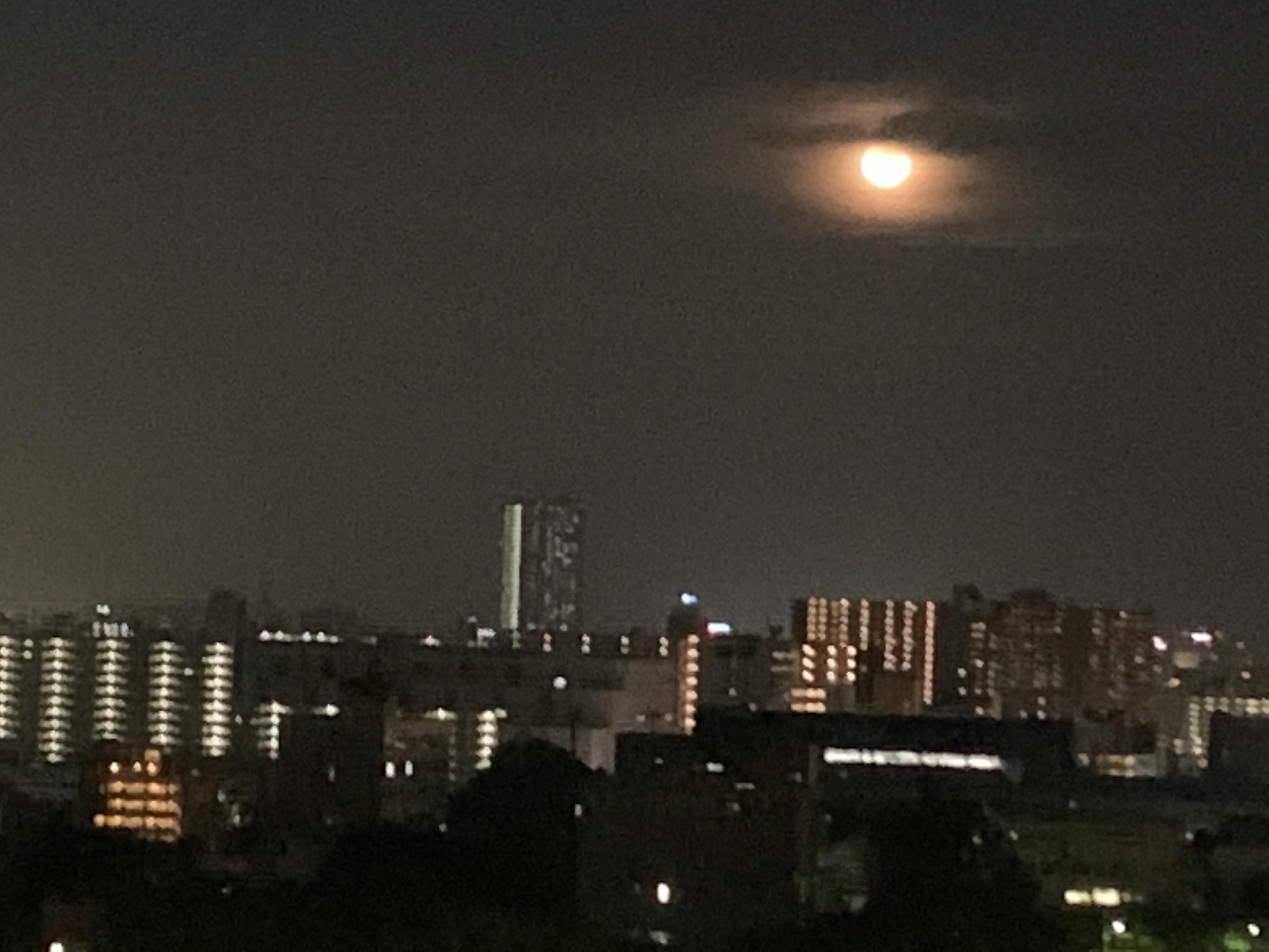 満月見ながら楽しいお遊び🎶