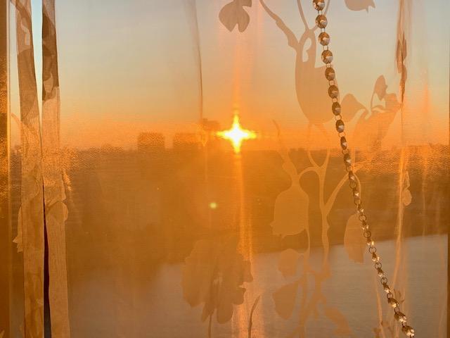 部屋の中まで朝陽がいっぱい「良い習慣」