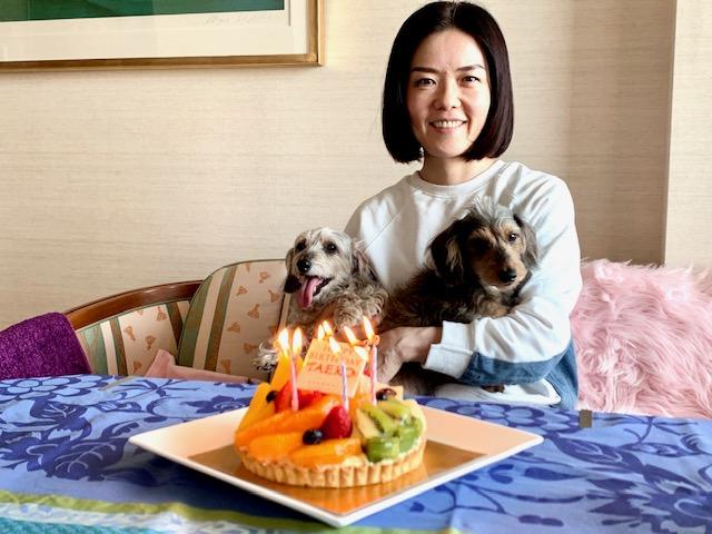 妹の誕生日祝い・両親もskypeで参加